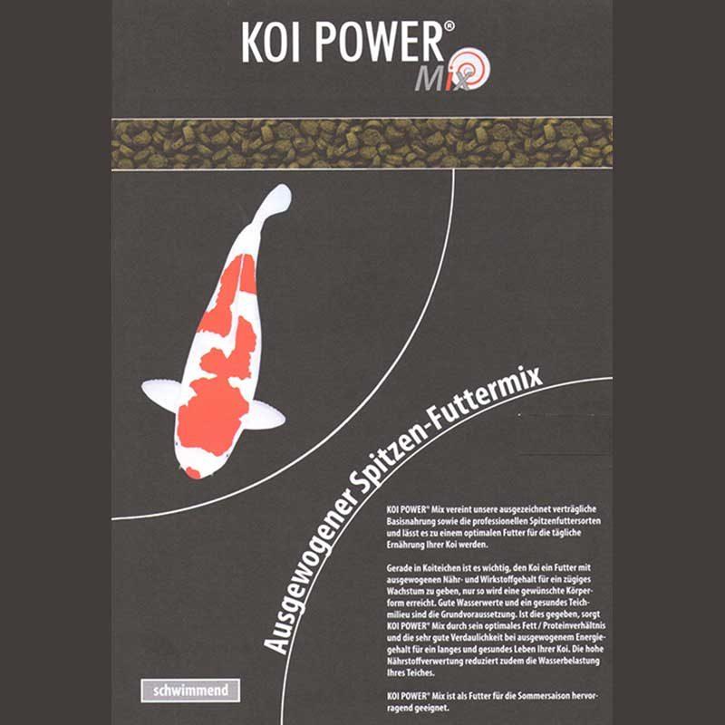 Etikett Koi Power Mix schwimmend