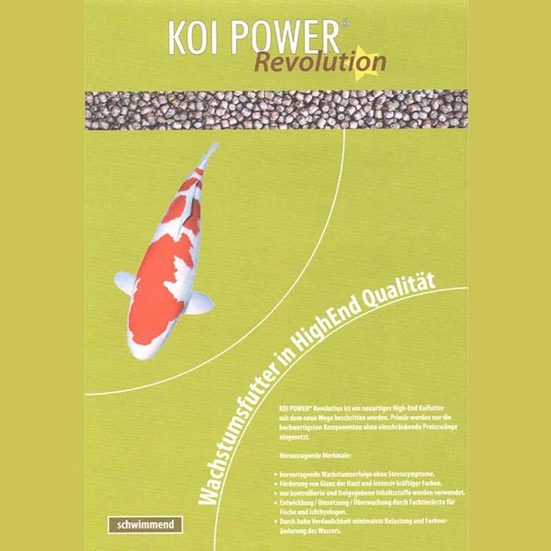 Etikett Koi Power Revolution schwimmend